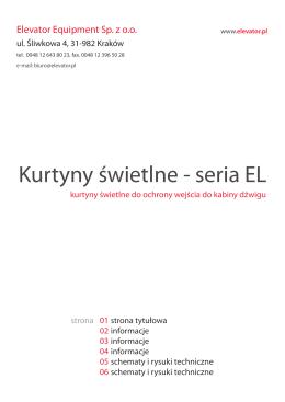 Kurtyny świetlne - seria EL (PL)2