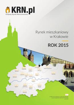 ROK 2015 - Krajowy Rynek Nieruchomości