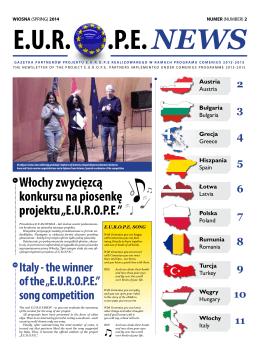 """Włochy zwycięzcą konkursu na piosenkę projektu """"E.U.R.O.P.E."""""""