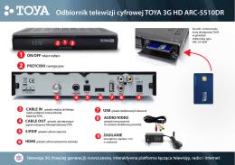 Odbiornik telewizji cyfrowej TOYA 3G HD ARC