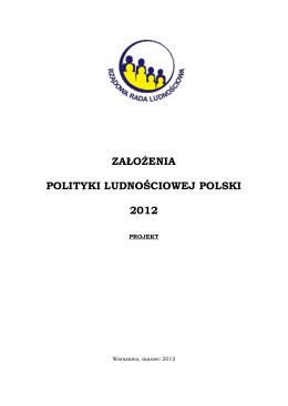 Założenia polityki ludnościowej w Polsce