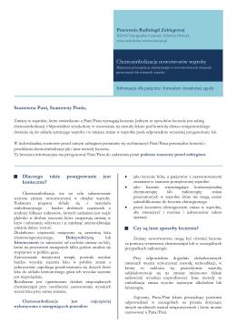 Informator dla pacjentów i formularz świadomej zgody (PDF)