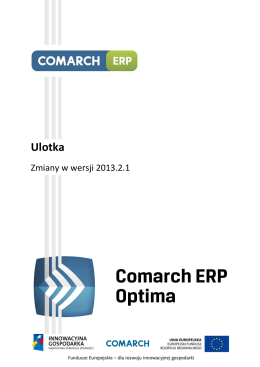 Comarch ERP Optima 2013.2.1