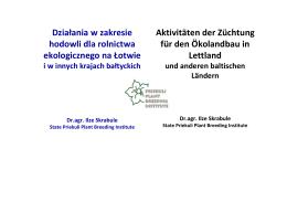 Polish Journal of Agronomy - Instytut Uprawy Nawożenia i