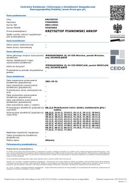 Dział 1 - Minerals Mining Group SA