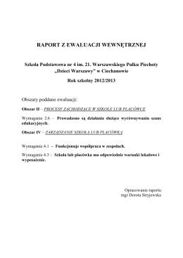 Kwiecień 2014 - Przedszkole Specjalne nr.208