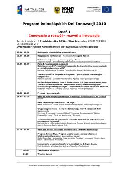 Program Konferencji - Urząd Patentowy Rzeczypospolitej Polskiej