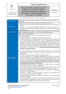 Zarządzenie (lub inna forma dokumentu) Nr