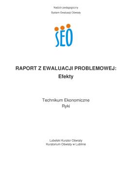 Raport całościowy- TECHNIKUM EKONOMICZNE