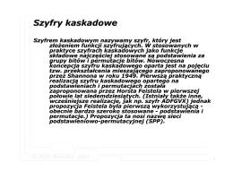 Szyfry kaskadowe