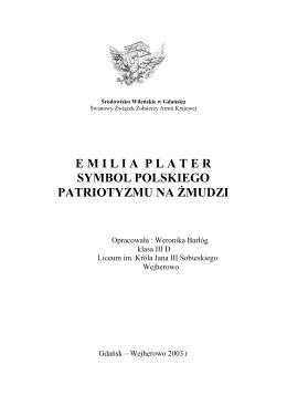 emilia plater symbol polskiego patriotyzmu na żmudzi