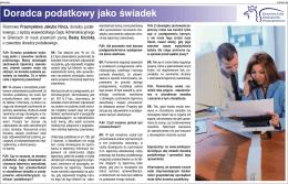 """""""Doradca podatkowy jako świadek"""" Autor: Pan Przemysław"""