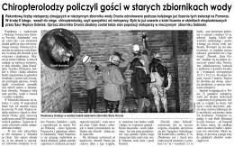 """""""Chiropterolodzy policzyli gości w starych zbiornikach wody"""", Twoja"""