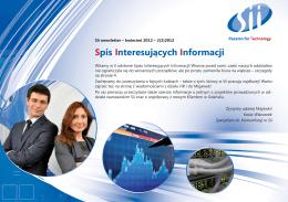 Spis Interesujących Informacji