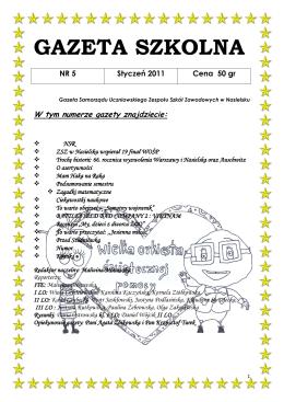 Styczeń 2011 - Zespół Szkół Zawodowych w Nasielsku