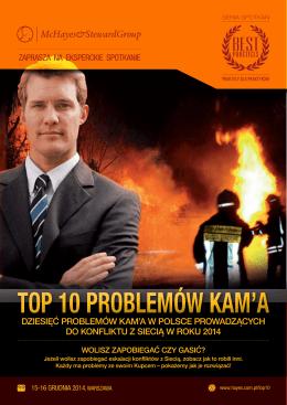 top 10 problemów kam`a