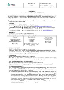 Informacja - Unipetrol