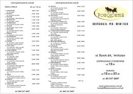 restauracja · pub · music club - Restauracja Powozownia Wolsztyn