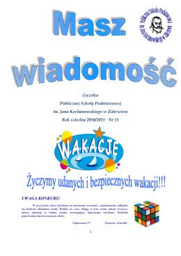 Gazetka nr11 - PSP Zakrzew