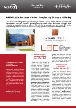 KGHM Letia Business Center: bezpieczny biznes z NETASQ