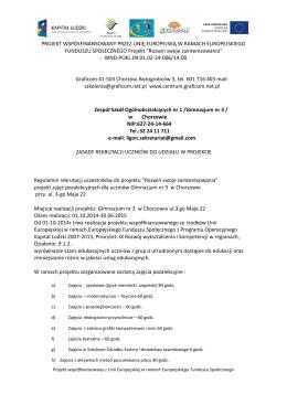 Zasady Rekrutacji - Zespół Szkół Ogólnokształcących nr 1