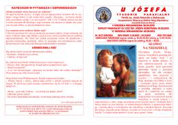 16-17 - Parafia św. Józefa Robotnika w Bodzanowie
