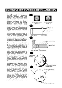 prawidłowe użytkowanie i konserwacja teleskopu