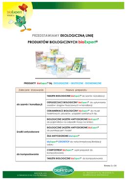 Ekologiczna linia produktów biologicznych bioExpert