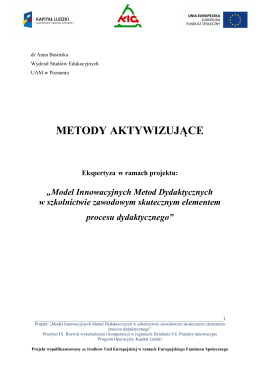 METODY AKTYWIZUJĄCE - Doskonaleniewsieci.pl