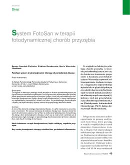 System FotoSan w terapii fotodynamicznej chorób przyzębia