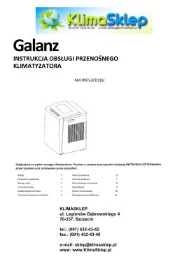 instrukcja obsługi Galanz AM-09