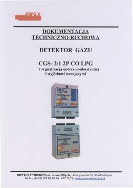 DTR - garażowy CO, LPG