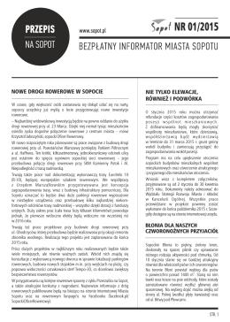 Przepis na Sopot 01/15 - Witamy na stronie Miasta Sopotu