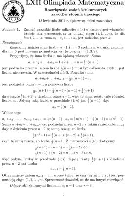 Rozwiązaniami - Olimpiada Matematyczna