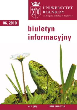 Biuletyn Informacyjny UR w Krakowie nr 4 (66)