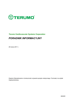 PORADNIK INFORMACYJNY - Terumo Cardiovascular Systems