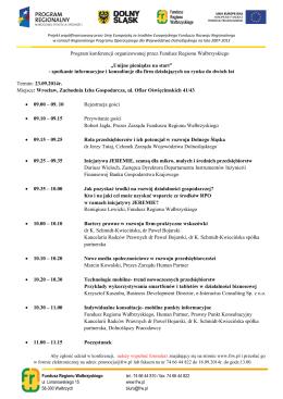 Program - Zachodnia Izba Gospodarcza