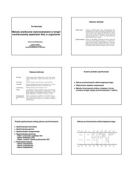 Metody analityczne w TM materiały AM IV 2012