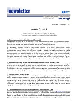 Newsletter PIK 20.2014
