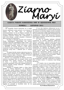 Ziarno Maryi nr 2.pdf - Parafia Sędziszów Małopolski kościół w