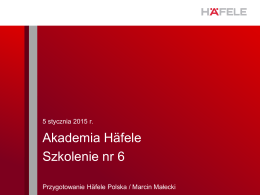 Akademia Häfele 2015