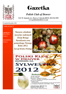 Grudzień/December 2011 - Polish Club of Denver