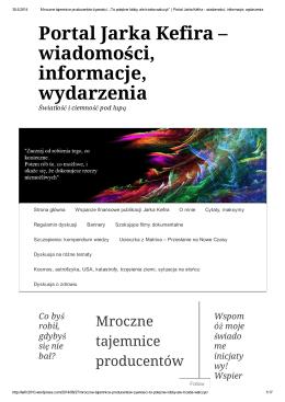 Portal Jarka Kefira – wiadomości, informacje