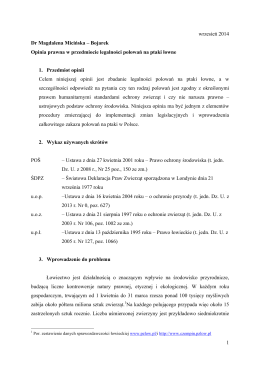 Bojarek Opinia prawna w przedmiocie legalności