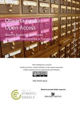 OPEN ACCESS - Koalicja Otwartej Edukacji