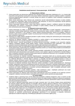 standardowe warunki gwarancji 2012