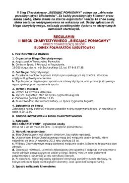 Regulamin - półmaraton augustowski