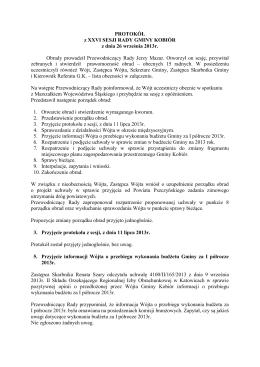 Protokół - Urząd Gminy Kobiór