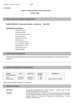 Karta charakterystyki IRR 2010