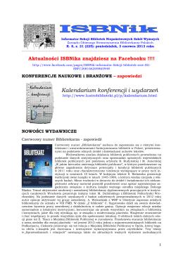 ISBNik 2013.06.03 - Biblioteka Wyższej Szkoły Biznesu